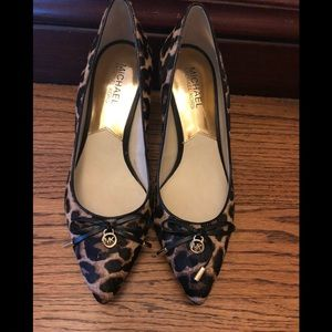 Michael Kors Kitten Heels - pony hair cheetah